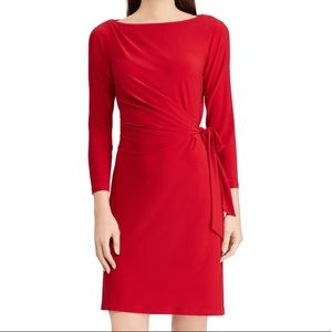 NWT Chaps Size Large Red Cocktail Dress